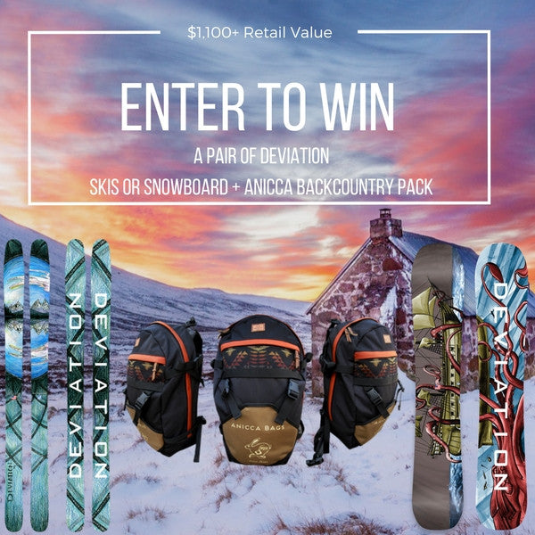 Deviation Skis & Snowboard + Anicca Bags GIVEAWAY