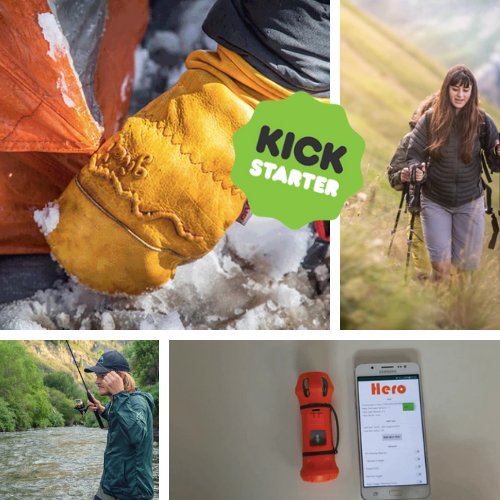 Kickstarter Roundup: Give'r Mitts, Coalatree Windbreaker, Hero PLB, and the Clever Stick Trekking Pole