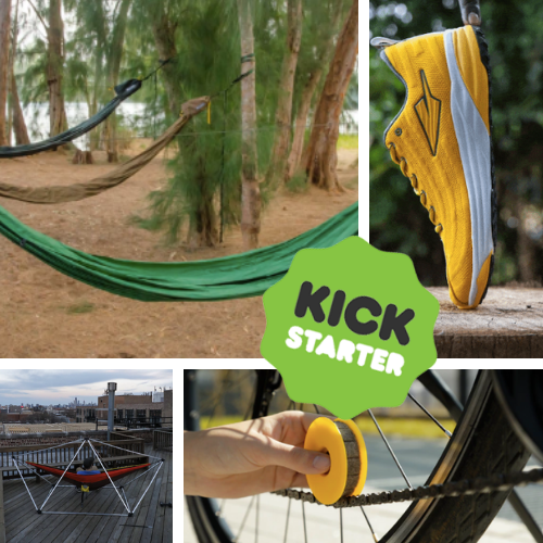 Kickstarter Roundup: GO! Hammock, Kenyan Running Shoes, Portable Hammock Stand and Bike Chain Lubricators!