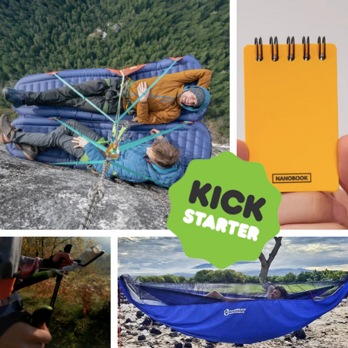 Kickstarter Roundup: Lightweight Portaledges, Nanobooks, HammiSacks, and HandsFree!