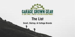 Small Startup Cottage Outdoor Gear Brands UL Backpacking Thru-Hiking Garage Grown Gear