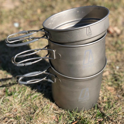 Gear Review: Three Piece Titanium Pots by Outpost Titanium