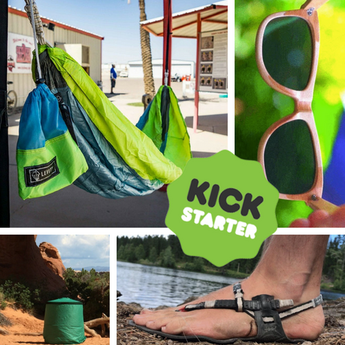 Kickstarter Roundup: Recycled Parachutes, Portable Toilets, Barefoot Sandals, and Wooden Shades!