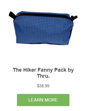 Fanny Packs for Backpacking - Thru.