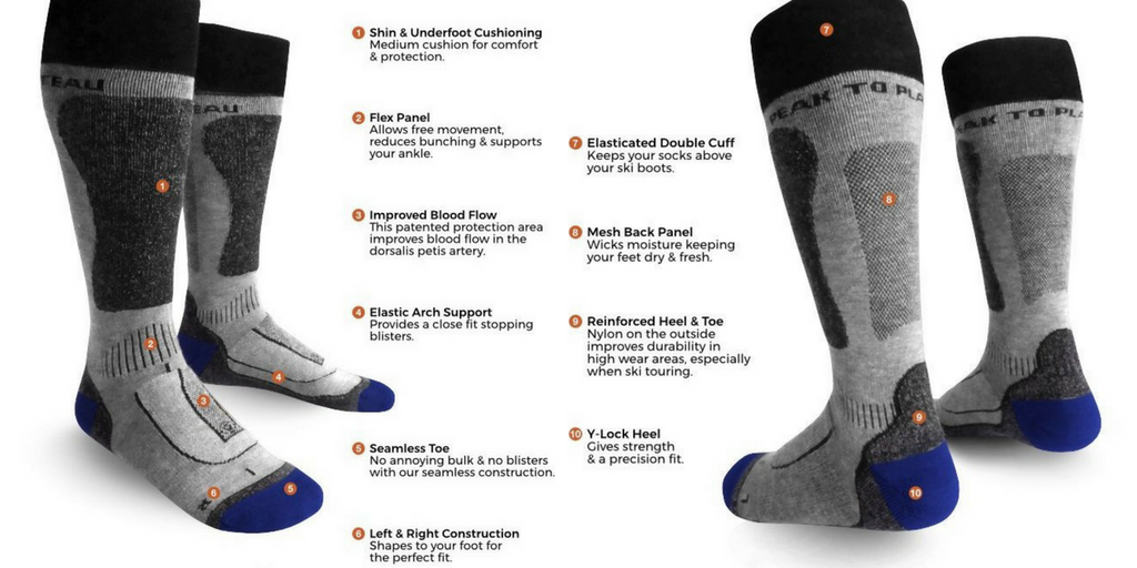 Yak Wool Skiing Socks from Peak to Plateau