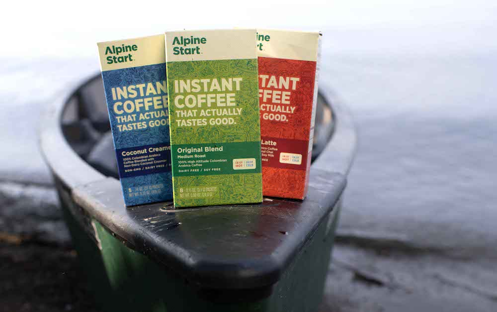 Alpine Start Best Good Taste Instant Coffee Packets Backpacking Camping