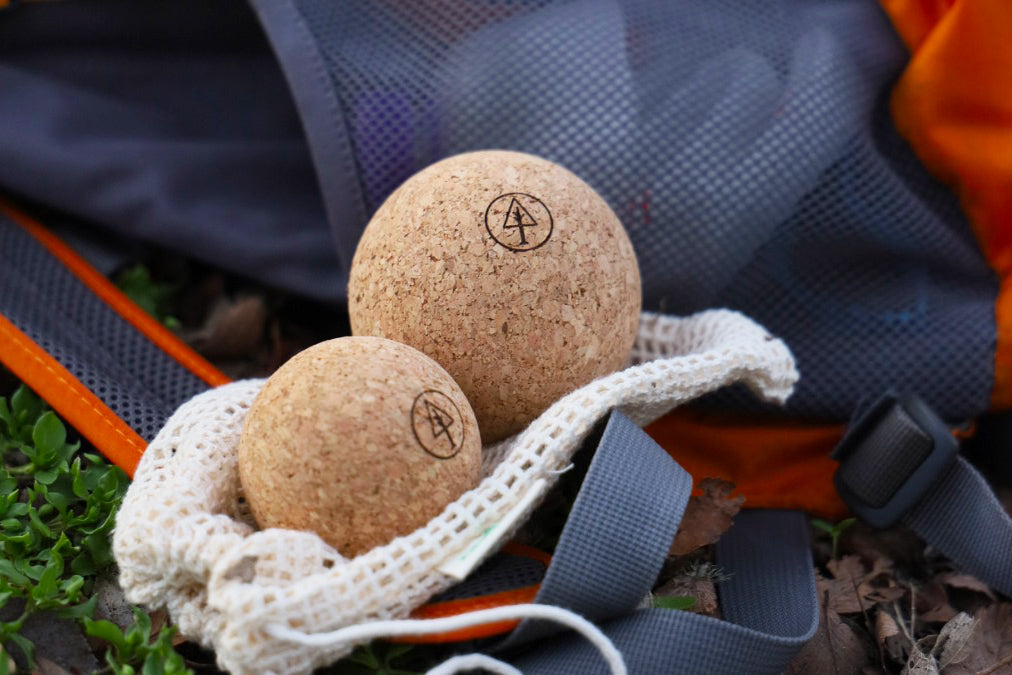 Best Sustainable Backpacking Gear Eco-Friendly Made by Small Brands Rawlogy Cork Massage Balls