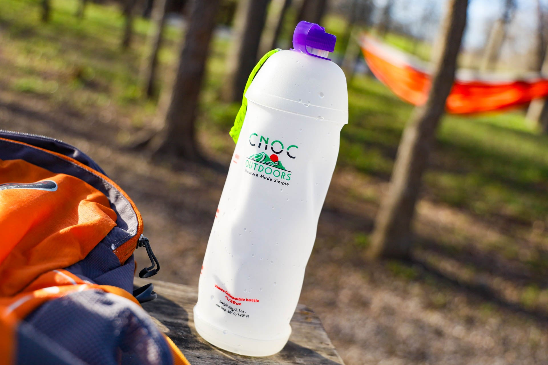 Best Sustainable Backpacking Gear Eco-Friendly Made by Small Brands Cnoc Collapsible Water Bottle