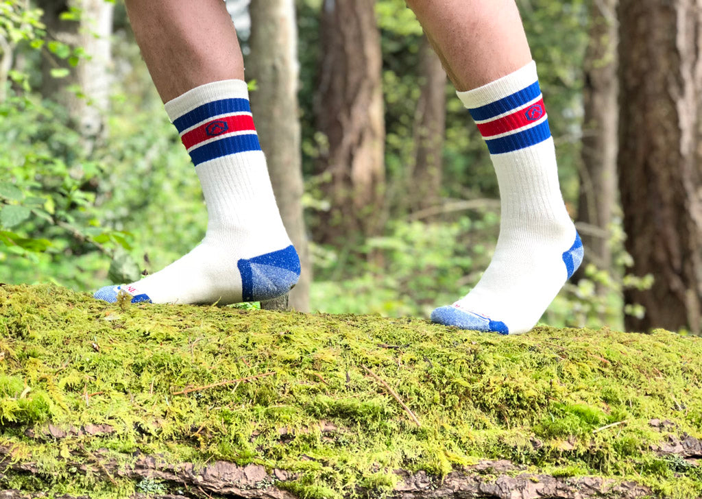 Cloudline Retro Style Hiking Socks Merino Wool Modern Performance