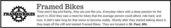 Framed Bikes - Outdoor Gear Brands Made in Designed in Minnesota