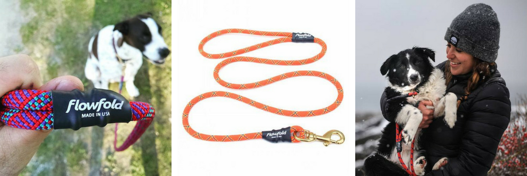 Best Outdoor Gear for Dogs - Flowfold Trial Mate Leash Reclaimed Recycled Climbing Rope Dogs