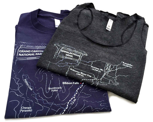 Grand Canyon T-Shirt Trail Map Tees