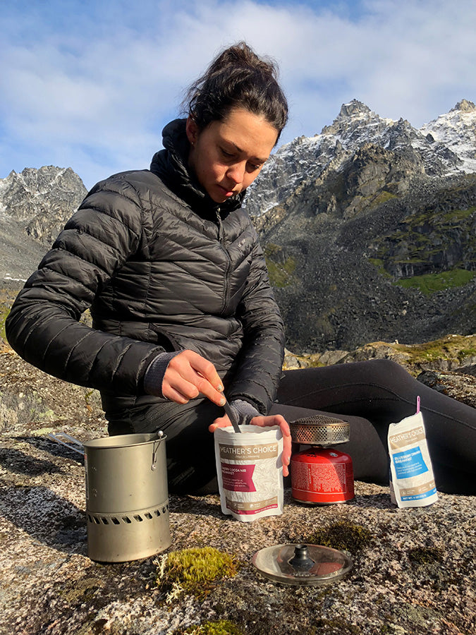 Heather's Choice Healthy Backcountry Backpacking Food Meals Snacks Alaska