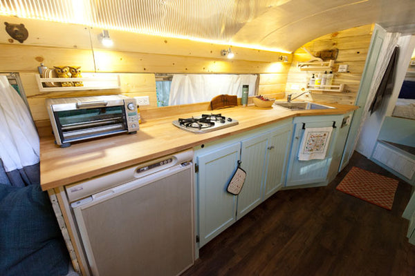 Living On A Converted School Bus Outside Found Profile Garage Grown Gear