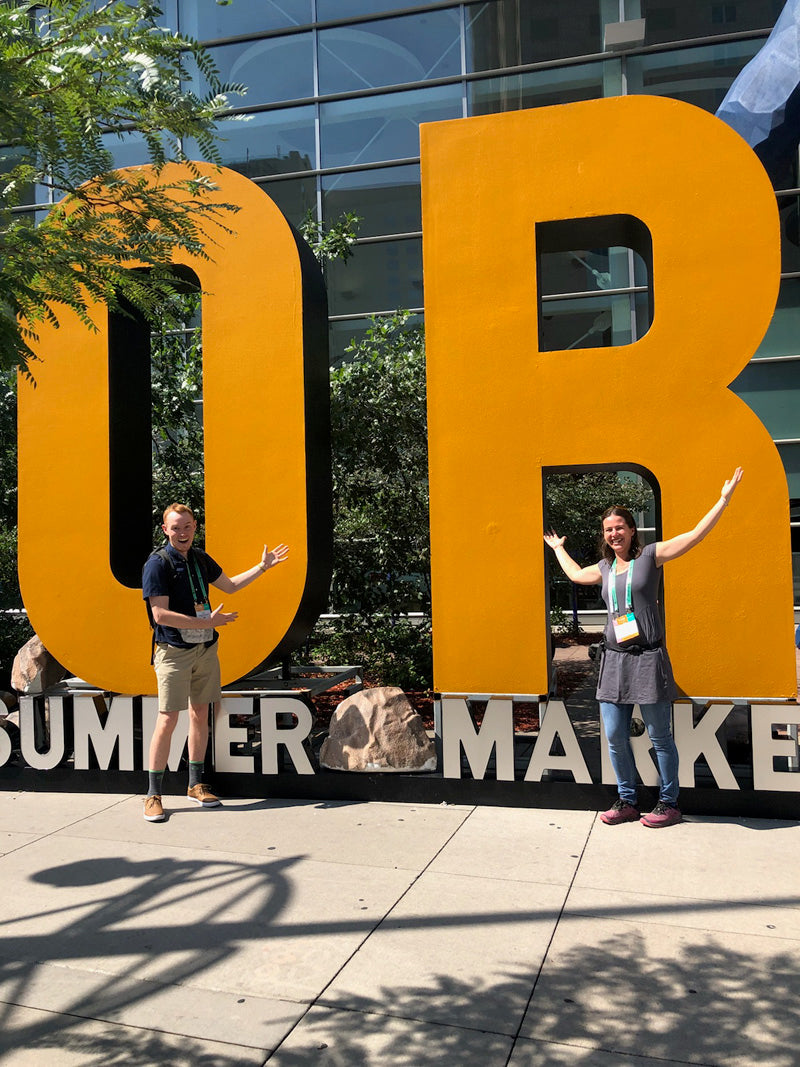 Outdoor Retailer Summer 2018 Amy and Lloyd Garage Grown Gear
