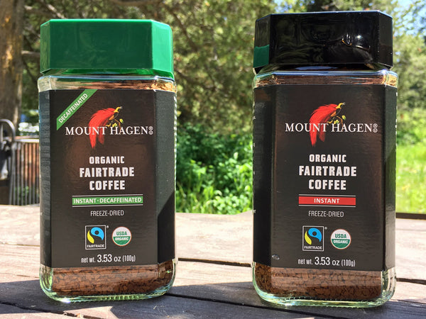 Mount Hagen Organic Fair Trade Freeze Dried Coffee - Best Coffee for Lightweight and Ultralight Backpacking - Blind Taste Test
