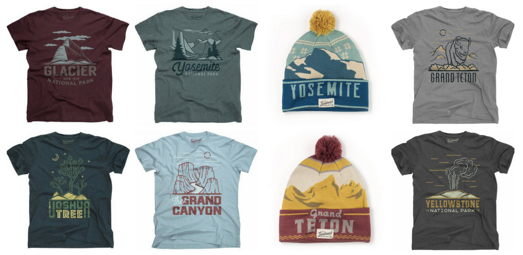 National Park Tee Shirts T-Shirts and Beanies - The Landmark Project - Garage Grown Gear