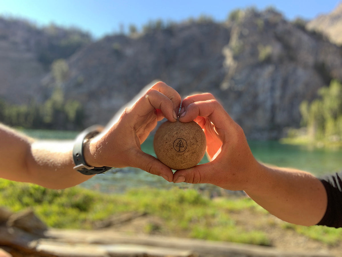 Rawlogy Lightweight Cork Massage Ball Environmentally Friendly Recycled Gear Review Backpacking