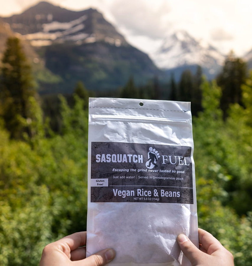 Sasquatch Fuel Backcountry Food UL Backpacking Meals Eco-Friendly Packaging