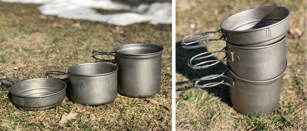 Outpost Titanium Pot Set