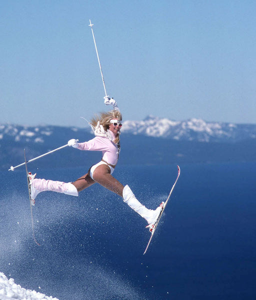 Onesie For Skiing Suzy Chaffee Silver One Piece