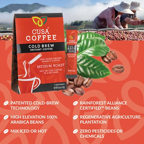 Medium Roast Cold Brew Instant Coffee by Cusa Tea & Coffee