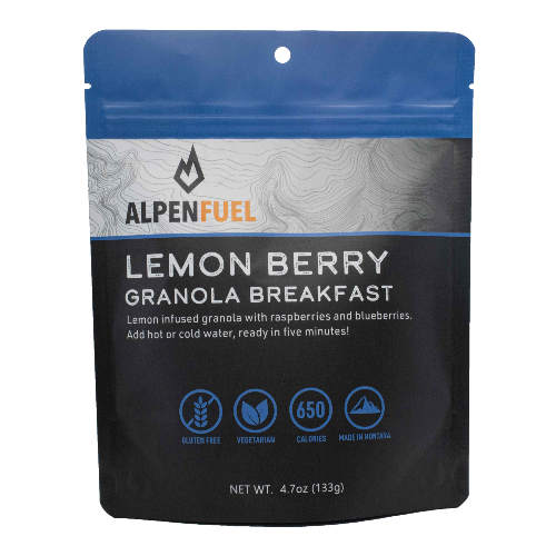 Alpen Fuel Backpacking Breakfasts Instant High Calorie Granola