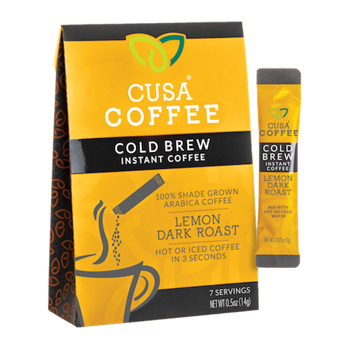 Lemon Dark Roast Cold Brew Instant Coffee by Cusa Tea