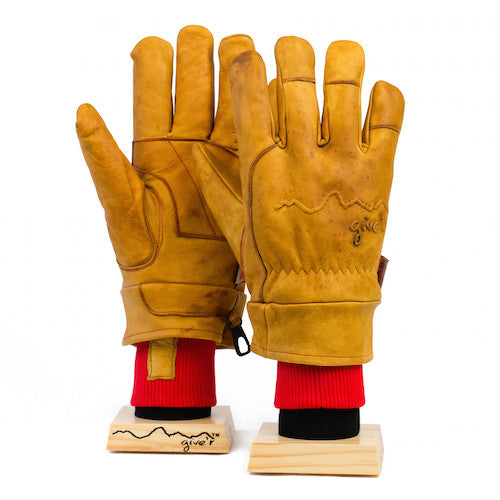 4-Season Hand-Branded Leather Gloves by Give'r - Garage Grown Gear - 1