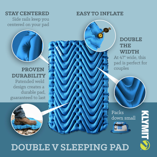 Double V Sleeping Pad by Klymit