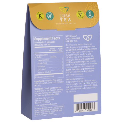 Slim Savvy Herbal Tea by Cusa Tea
