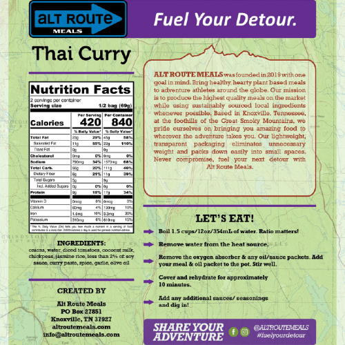 Thai Curry by Alt Route Meals