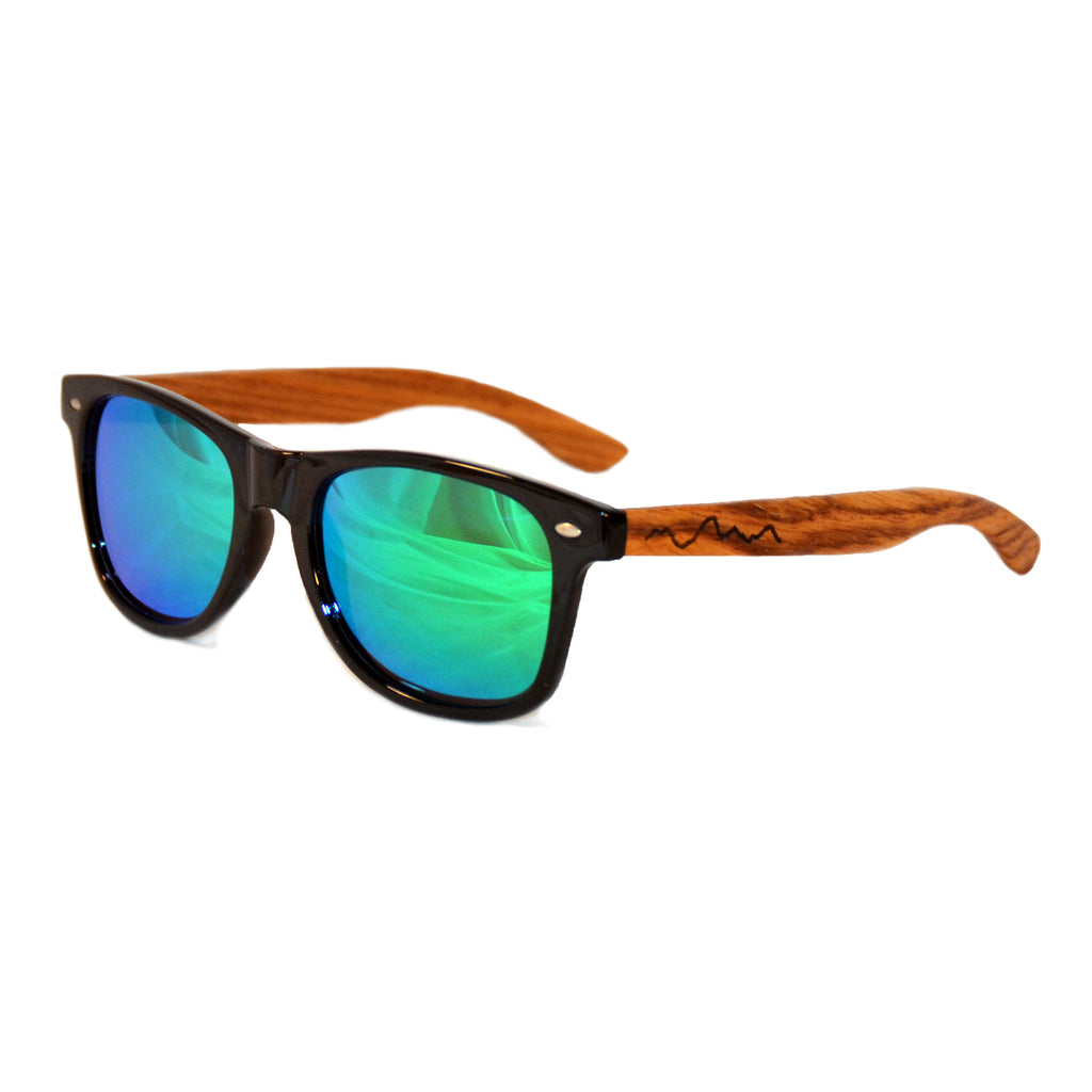 Woody Wayfarers: Polarized Wooden Sunglasses by Give'r