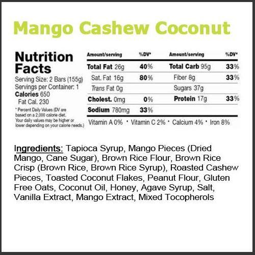 Mango Cashew Coconut by Greenbelly Meals
