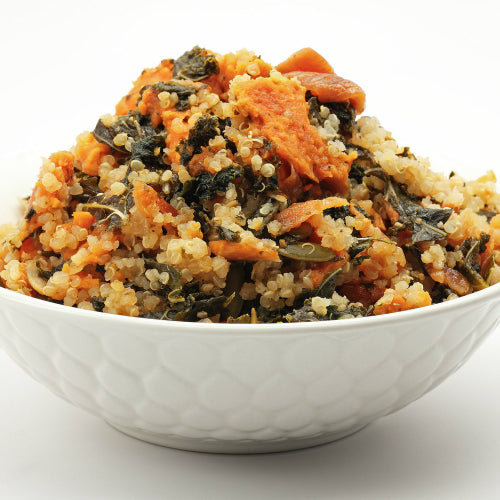 Roasted Sweet Potatoes with Kale and Quinoa by Food for the Sole