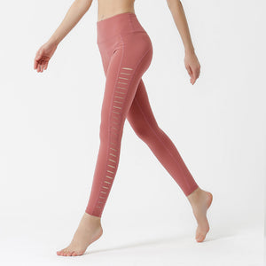 Nude sports hip-lifting yoga pants