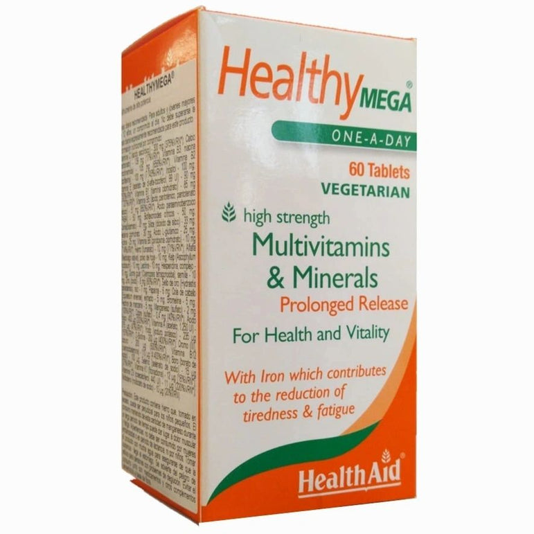Multivitaminas Y Minerales Healthy Mega 60 comp. de Health Aid