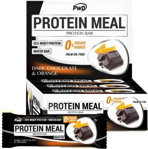 Barritas Protein Meal Sabor Chocolate Negro Con Naranja Pwd