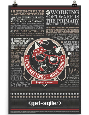 12 Principals of Agile Software Poster