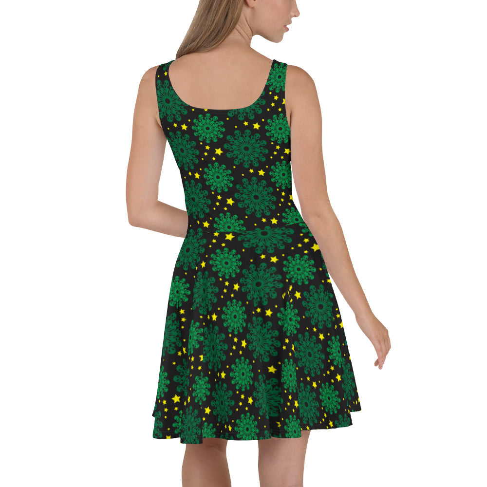 Alien Patterned Skater Dress