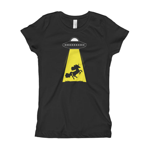 Unicorn Alien Abduction Princess T-shirt