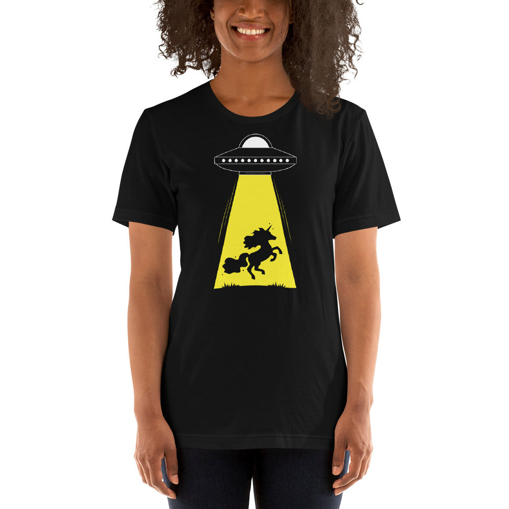 Unicorn Alien Abduction Unisex T-shirt