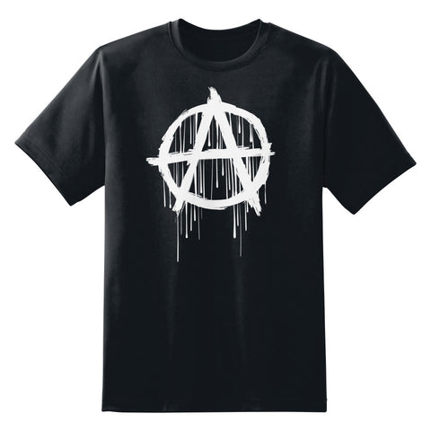 Dripping Anarchy Symbol Men's Unisex T-Shirt by Sexy Hackers