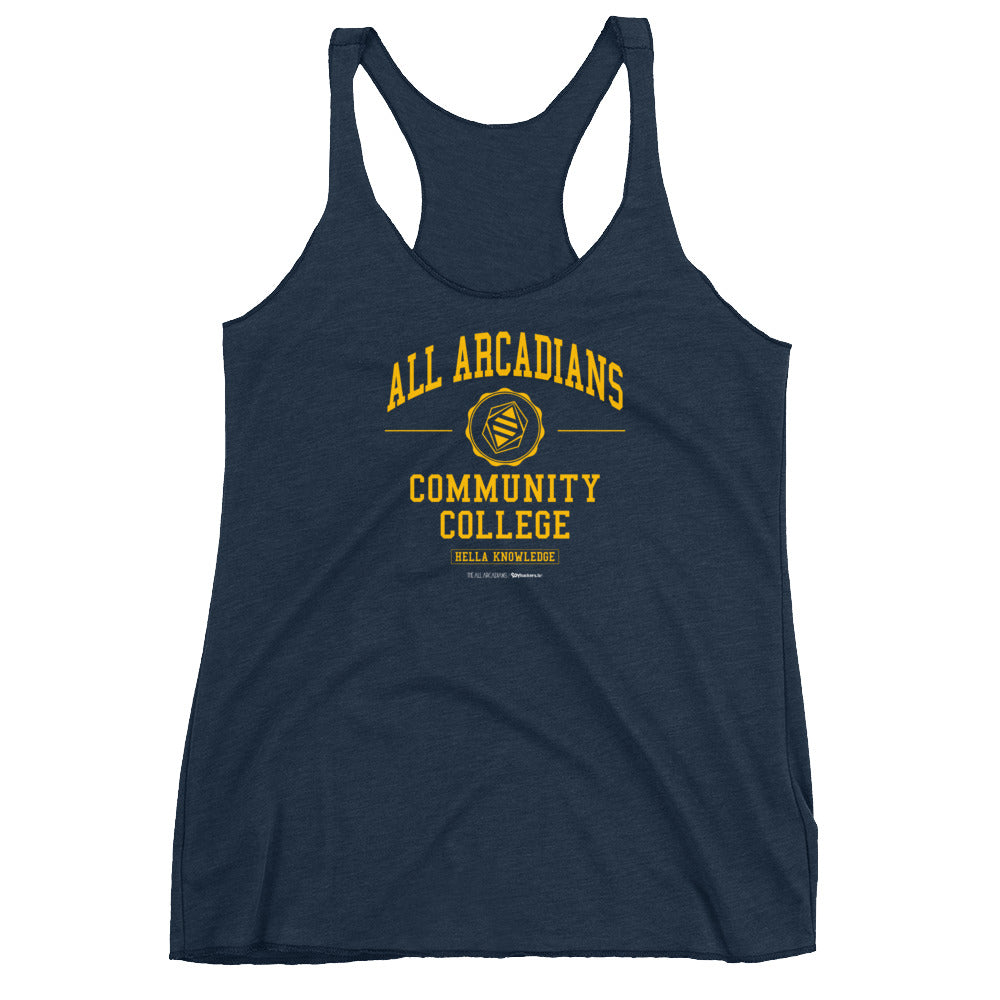 All Arcadians Community College Women's Racer-back Tank-top