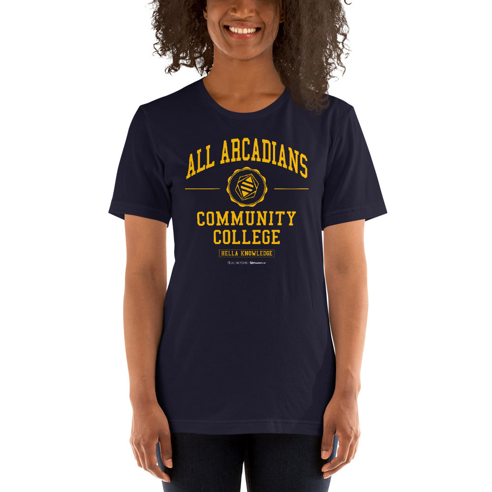 All Arcadians Community College Unisex T-shirt