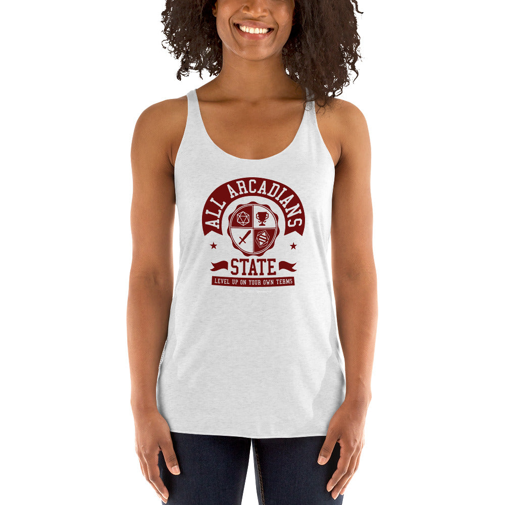 All Arcadians State Women's Racer-back Tank-top