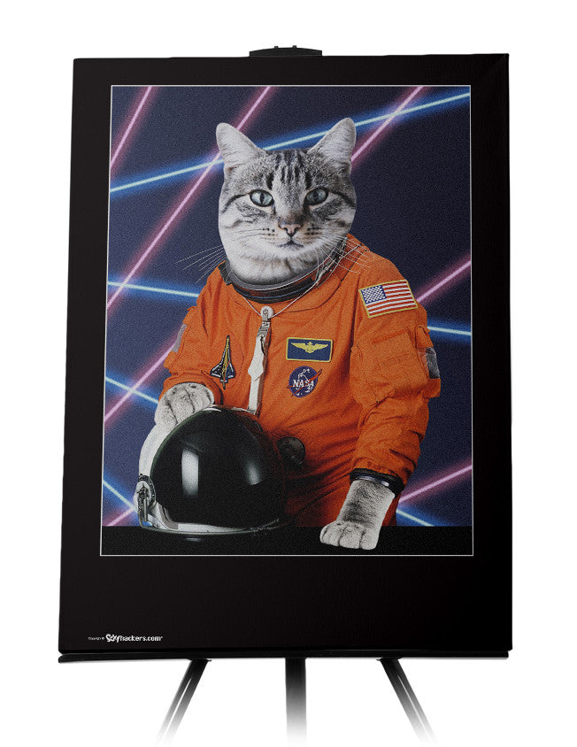 AstroCat III '80s Retro Funny Canvas