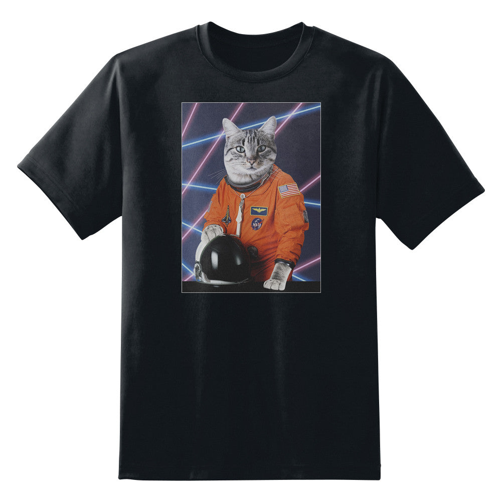 Astro Cat '80s Retro Funny Unisex T-Shirt