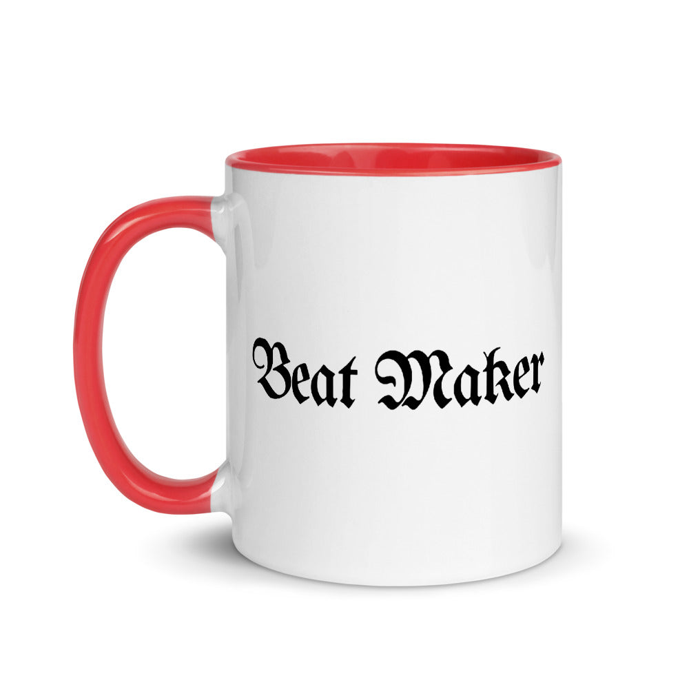 Beat Maker Coffee White Ceramic Mug with Color Inside