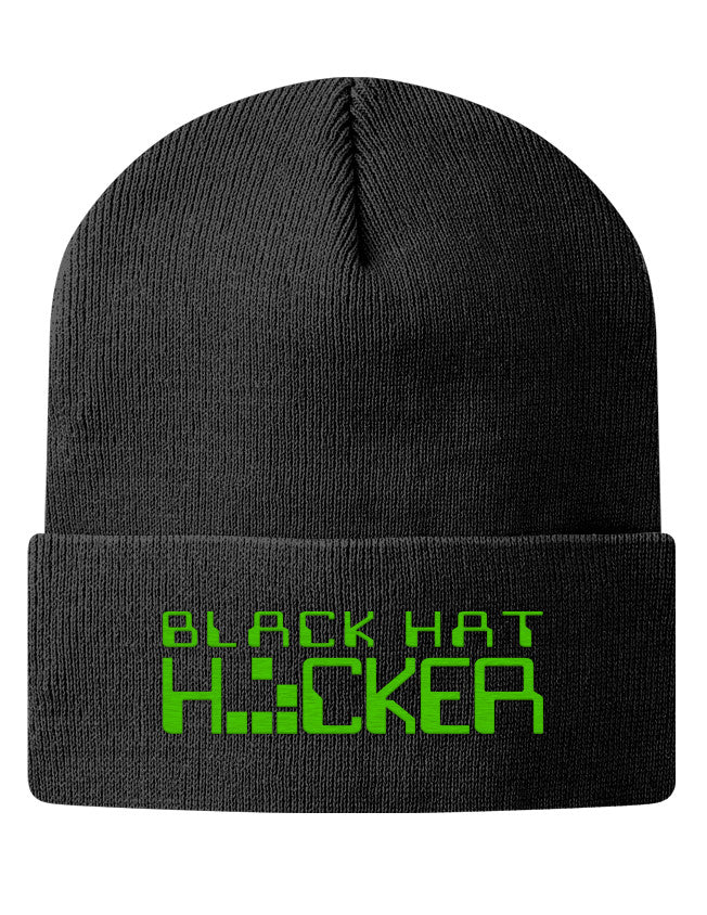 Knit Beanie - Black Hat Hacker